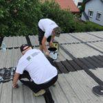 """Dach blaszany - """"paskowanie"""" gumą CWS R CANADA WATERPROOF SYSTEM"""